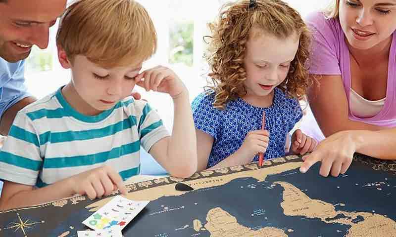 mapa del mundo para rascar. mapamundi rascar