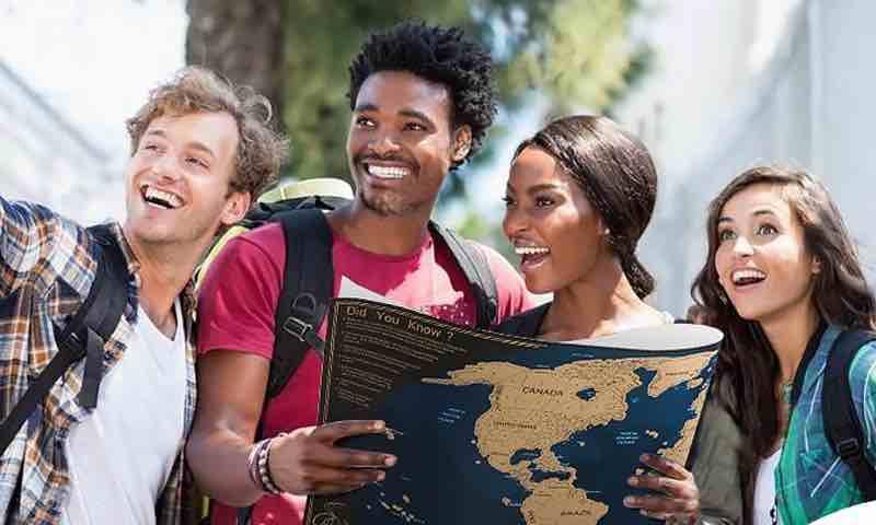 mapa para rascar paises. mapas para rascar.