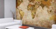 mapamundi antiguo. Mapamundi vintage