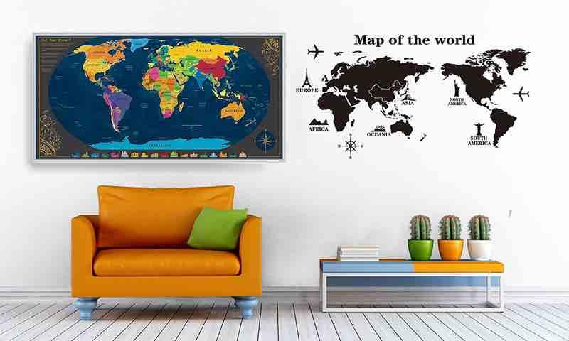 scratch maps. mapamundi rascar