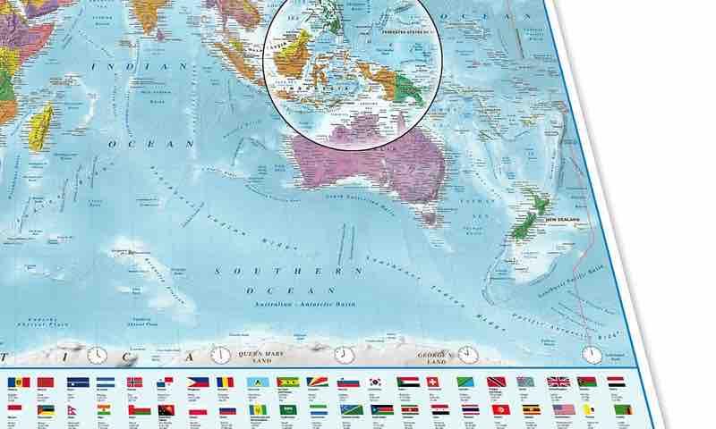 Póster XXL. Mapa del mundo