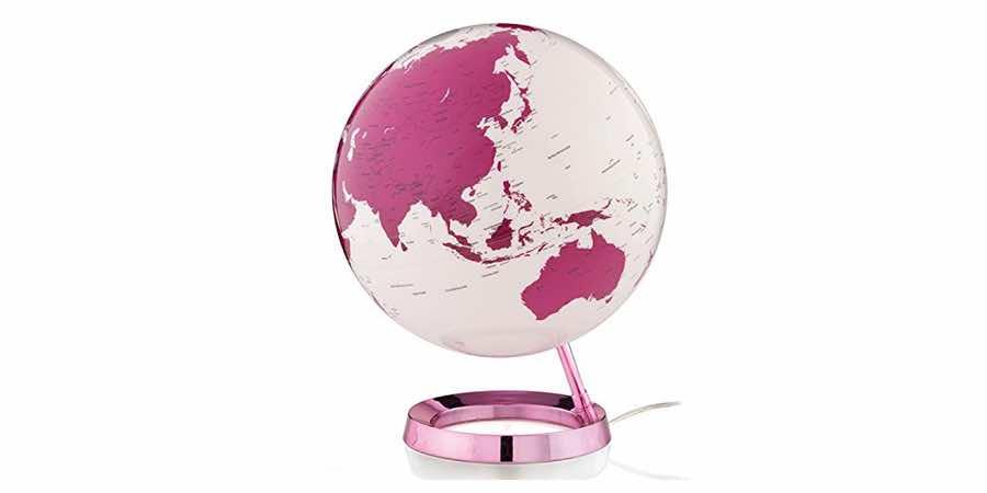 Globo terraqueo rosa