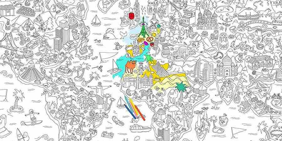 Omy poster gigante enrollable Atlas XXL