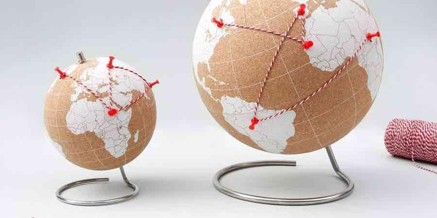Globo terraqueo de corcho, globo terraqueo para marcar viajes, globo terraqueo corcho barato, como hacer un globo terraqueo con bola de corcho