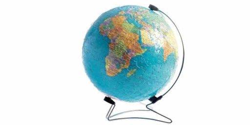 Globo terrestre en 3D puzzle
