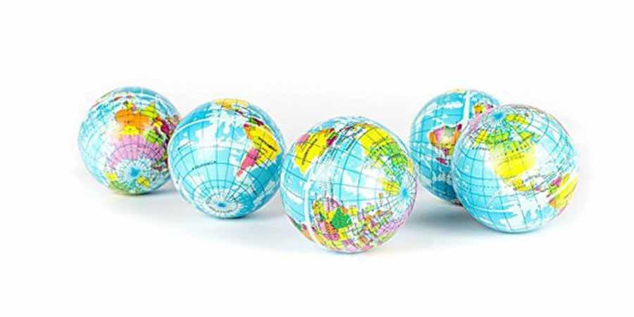 Globo terraqueo pequeño, partes del globo terráqueo para niños