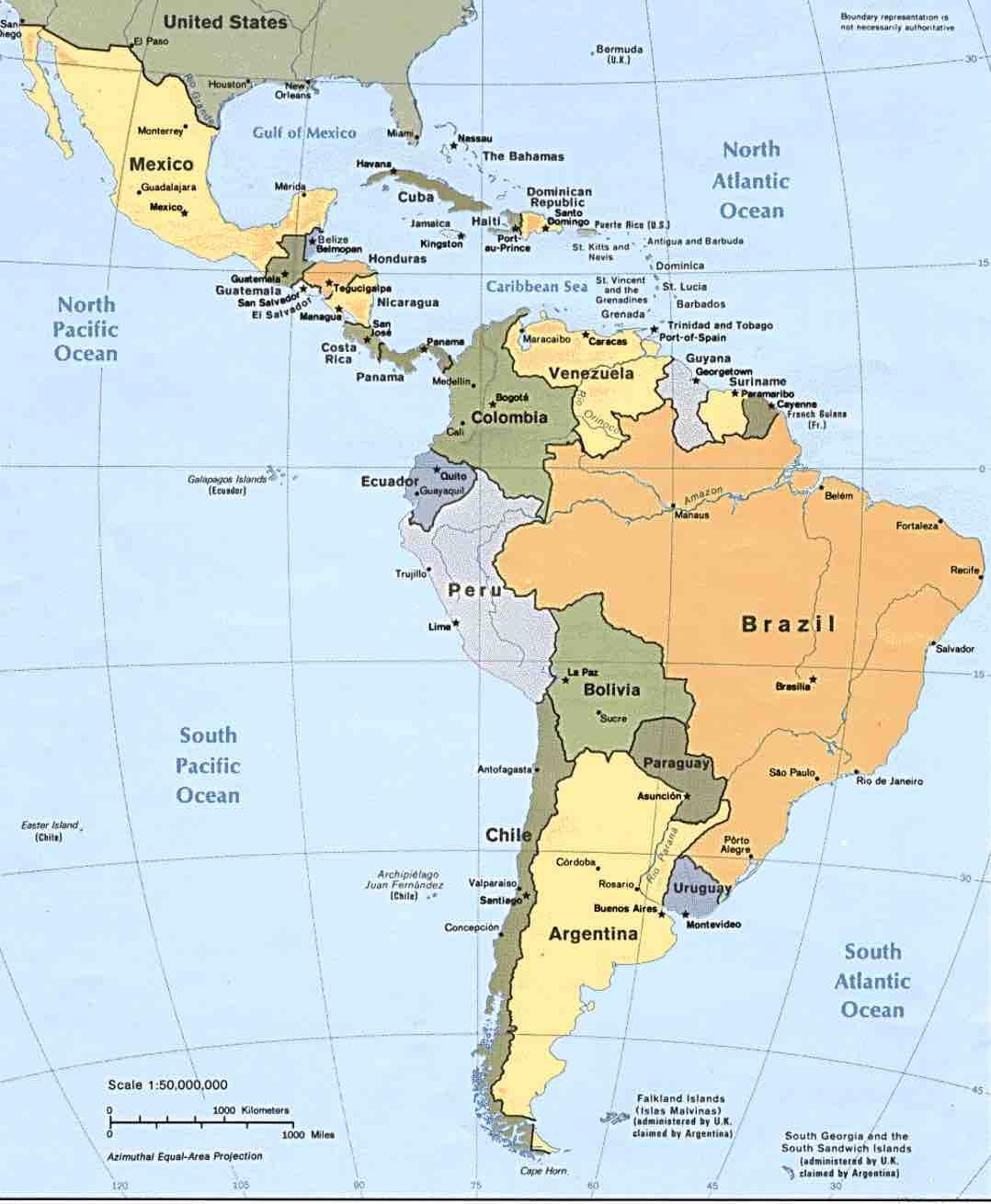 Los Mejores Mapas De Sudamerica Para Imprimir Y Colorear