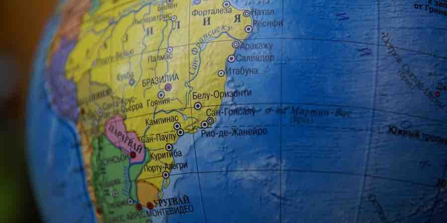 continente de Sudamerica en ruso